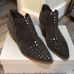 State Loka Gray Studded Booties